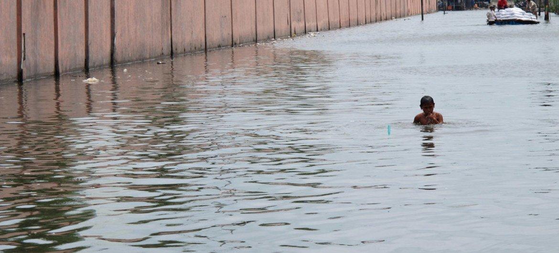 La gestión del agua y la reducción de riesgos de desastres están estrechamente vinculadas. Foto: Banco Mundial//Farhana Asnap
