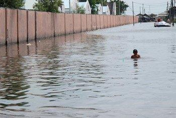 Flooding in Jakarta, Indonesia.