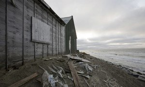 Homes, water system and infrastructure in Shishmaref, Alaska, are being destroyed by a rising tide caused by climate change, to the point where homes are being abandoned as they literally fall into the ocean.