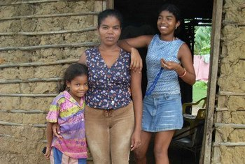 Displaced by Colombia's armed conflict, this family now lives in Arjona, an impoverished community outside Cartagena on the northern coast.