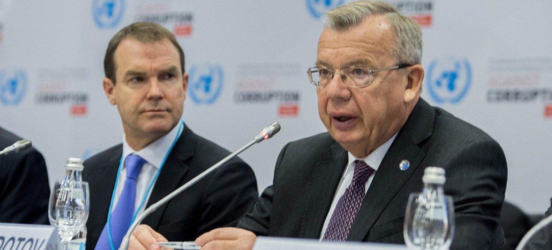 联合国毒品和犯罪问题办公室执行主任费多托夫资料图片。联合国维也纳办事处图片。