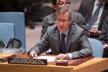 秘书长利比亚事务特别代表莱昂资料图片。联合国图片/Eskinder Debebe