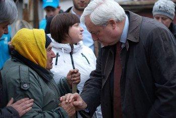 Стивен ОБрайен посетил Украину. Фото Управления ООН  по  координации  гуманитарных  вопросов