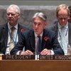 Secretary of State for Foreign and Commonwealth Affairs of the United Kingdom and President of the Security Council for November, Philip Hammond, chairs the Council meeting on the situation in Somalia.