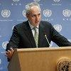 El portavoz de la ONU en Nueva York, Stephane Dujarric. Foto de archivo: ONU/Evan Schneider