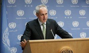Spokesperson for the Secretary-General, Stéphane Dujarric.