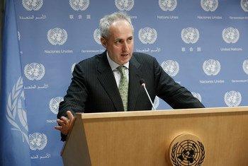 秘书长发言人杜加里克。联合国图片/Evan Schneider
