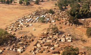 The town of Batangafo, Central African Republic (CAR) from the air.