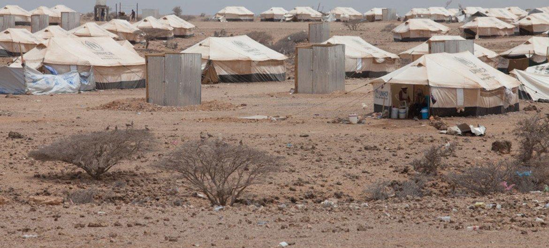 Vue d'ensemble sur le camp de réfugiés de Markazi, à Djibouti.