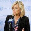 سيغريد كاغ المنسقة الخاصة للأمم المتحدة في لبنان. صور الأمم المتحدة/إيفان شنايدر.
