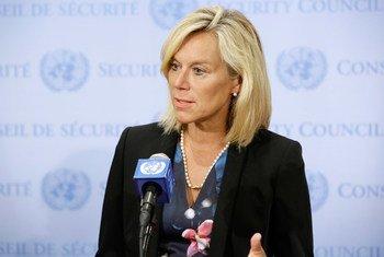 La Coordinadora Especial de la ONU para Líbano, Sigrid Kaag. Foto ONU/Evan Schneider