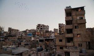 Un camp de réfugiés palestiniens à Burj al-Barajneh dans la capitale libanaise Beyrouth.