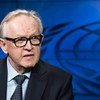 Martti Ahtisaari, former President of Finland and Nobel Peace Laureate, during an interview with the UN News and Media Division's news outlets in October 2015.