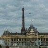 Vista de París, Francia, desde el edificio de la UNESCO.