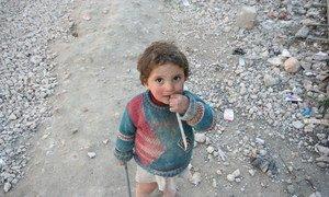 Le camp Tesreen, à Alep, en Syrie. Photo OCHA/Josephine Guerrero (archives)