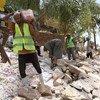 Travaux d'infrastructures destinés à employer de la main d'oeuvre en Egypte.