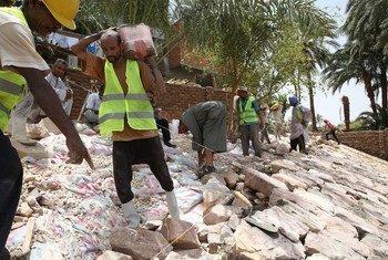 Trabajadores de la construcción en Luxor, Egipto. Foto: Banco Mundial/ Dominic Chavez
