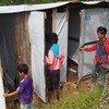Retretes construidos con el apoyo de UNICEF en un albergue de Hakha, en Myanmar. Foto: UNICEF/Kap Za Lyan