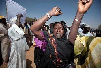 Residents of Fanga Suk village in East Jebel Marra, Sudan.