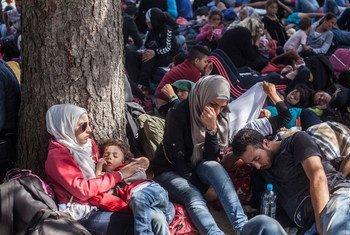 Solicitantes de asilo en Croacia. Foto: ACNUR/I. Pavicevic