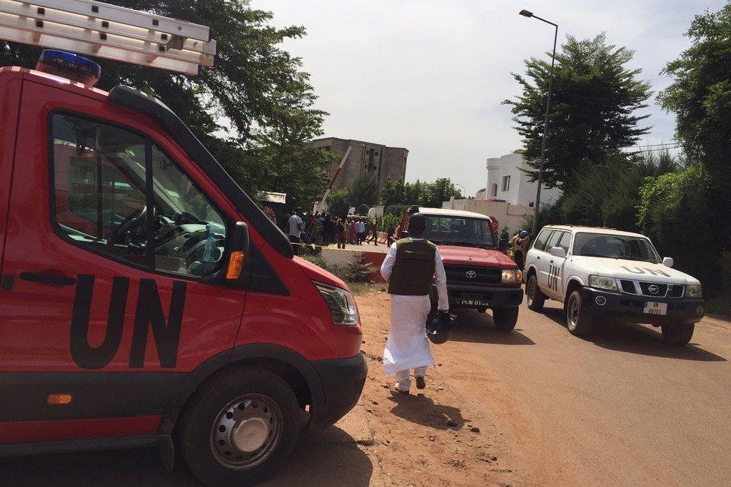 玛丽首都巴马科的一家旅馆遭到恐怖袭击后,联合国马里稳定团向当局提供支持。(资料图片)