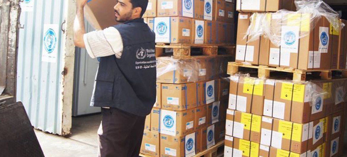 WHO has provided 35 tonnes of medical supplies to health facilities in Hadramaut, Shabwah and Al Mahara in Yemen, which are sufficient to support over 665,000 individuals across the three governorates.