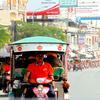柬埔寨首都金边的嘟嘟车司机。