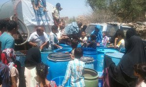 The city of Taiz in Yemen is under virtual siege, with some 200,000 people in need of water and other necessities.