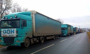 This WFP 12-truck convoy, with food supplies to feed more than 7,000 people for one month, reached Luhansk in eastern Ukraine for the first time since the suspension of humanitarian activities four months ago.