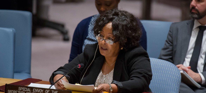 """Résultat de recherche d'images pour """"Mme Hiroute Guebre Sellassie, Envoyée spéciale de l'Onu au Sahel. UN Photo/Rick Bajornas"""""""