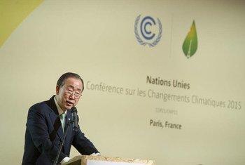 Secretary-General Ban Ki-moon addresses High-level Meeting on Climate Resilience.
