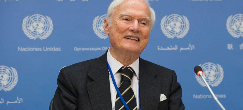联合国单方面强制性措施的负面影响问题特别报告员伊德里斯·贾扎伊里(Idriss Jazairy)。联合国资料图片/Eskinder Debebe