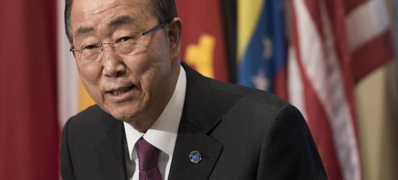 Ban Ki-moon en las sede de la ONU. Foto: ONU/Mark Garten