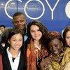 Des jeunes cartographes du climat à la Conférence des Nations Unies sur les changements climatiques. Photo : UNICEF France / Zumstein