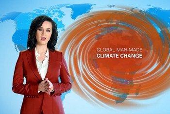 La embajadora de buena voluntad de UNICEF, Katy Perry, abogó por tomar medidas contra el cambio climático. Foto: Captura de video UNICEF