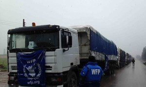 WFP prepares to deliver emergency humanitarian supplies across Syria.