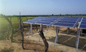 Solar energy panels in Mali.