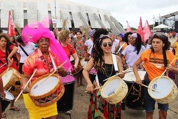 巴西反对对黑人妇女的暴力和种族歧视的活动。