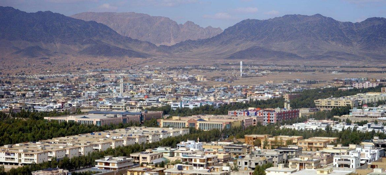 Vue d'ensemble sur la ville de Kandahar, en Afghanistan.