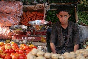 La FAO calcula que entre 90 y 95 por ciento de los alimentos son importados en Yemen. Foto: UNICEF/Giacomo Pirozzi