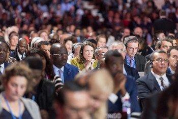 Closing Ceremony of COP21, Paris.