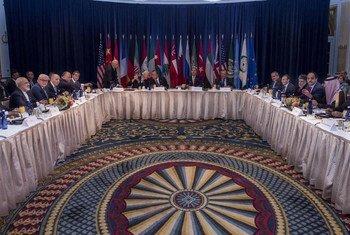 Vue d'ensemble de la réunion du Groupe international d'appui pour la Syrie(ISSG) à New York. Photo ONU/Cia Pak
