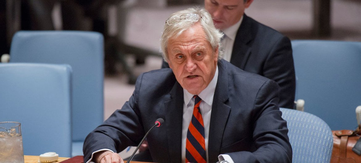 Special Representative of the Secretary-General and Head of the United Nations Assistance Mission in Afghanistan (UNAMA) Nicholas Haysom briefs the Security Council.