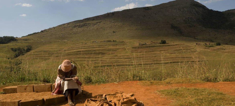 A farmer takes a break in Swaziland.