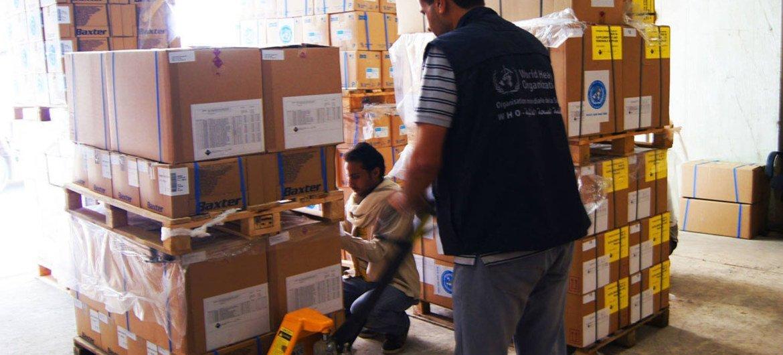 En décembre 2015, l'OMS avait pu livrer 100 tonnes de médicaments et de fournitures médicales pour plus d'un million d'habitants du gouvernorat de Taëz, au Yémen.