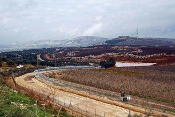 Голубая линия  на границе  между  Израилем и Ливаном. Фото  ИРИН Хук Маклеуд