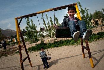 阿富汗首都喀布尔的儿童  儿基会图片/Agron Dragaj
