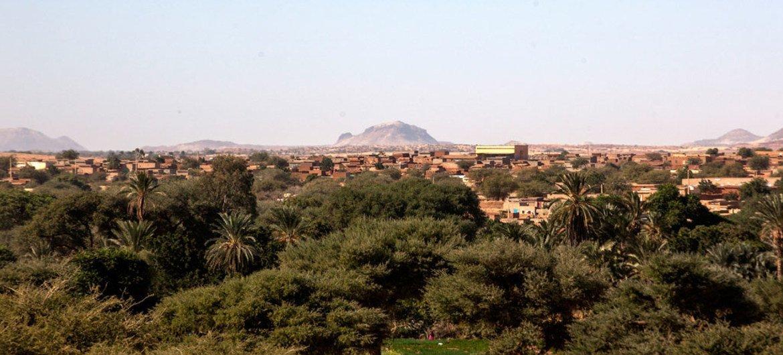 Aerial view of Kutum city in North Darfur, Sudan.
