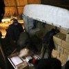 Camiones cargados de alimentos para atender a unas 40.000 personas un mes en Madaya, Siria. Foto: PMA/Hussam Alsaleh