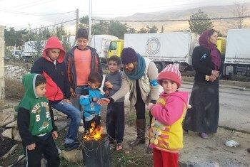 Población necesitada en la ciudad sitiada de Madaya en Siria. Foto UNICEF/UNO7487/Omar.